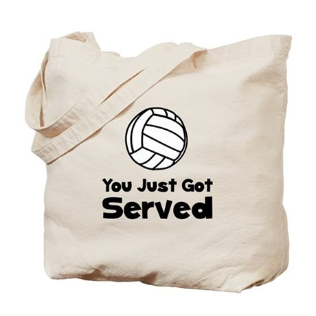 Volleyball Served Tote Bag