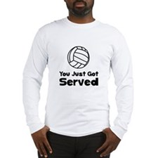 Volleyball Served Long Sleeve T-Shirt