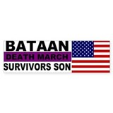 Bataan Death MArch Survivors Son sticker