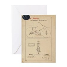 Velocipede Patent 1869 Greeting Card
