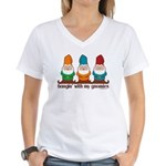 Hangin' With My Gnomies Women's V-Neck T-Shirt