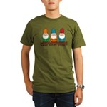 Hangin' With My Gnomies Organic Men's T-Shirt (dar