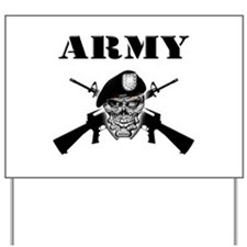 Army Skull and M-16's Yard Sign