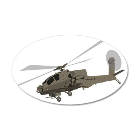 Apache AH-64 20x12 Oval Wall Decal