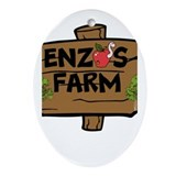 Enzos Farm Ornament (Oval)