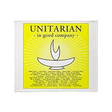 """Unitarian in Good Company"" Throw Blanket"