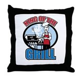 King of the Grill Throw Pillow