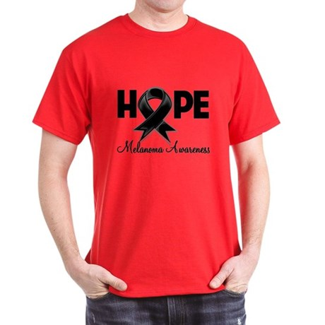 Hope Ribbon Melanoma Dark T-Shirt