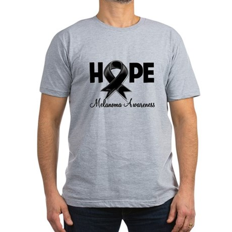 Hope Ribbon Melanoma Men's Fitted T-Shirt (dark)