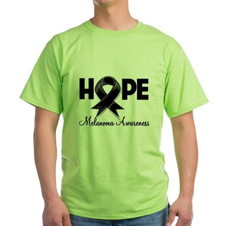 Hope Ribbon Melanoma Green T-Shirt