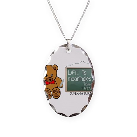 Supernatural- T.Bear Necklace Oval Charm