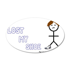 Sammy Lost His Shoe 38.5 x 24.5 Oval Wall Peel