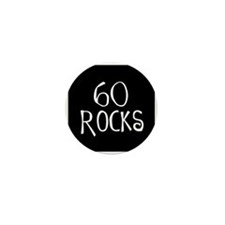 60th birthday saying, 60 rocks! Mini Button (100 p