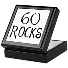 60th birthday saying, 60 rocks! Keepsake Box
