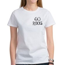 60th birthday saying, 60 rocks! Tee