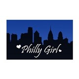Philly Girl (Skyline) 38.5 x 24.5 Wall Peel