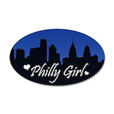 Philly Girl (Skyline) 38.5 x 24.5 Oval Wall Peel