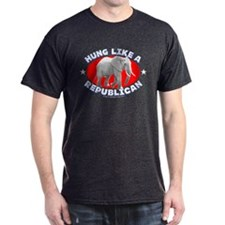 """Hung like a Republican"" T-Shirt"