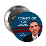 Connecticut for Obama 2012 button