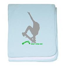 Gravity Wear - Skate Boarding baby blanket