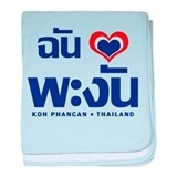 I Love (Heart) Koh Phangan baby blanket