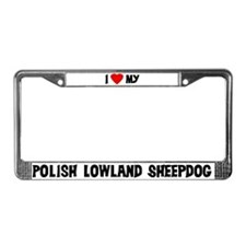 Polish Lowland Sheepdog License Plate Frame