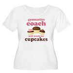 Funny Gymnastics Coach Women's Plus Size Scoop Nec