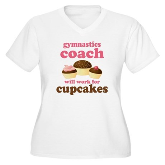 Funny Gymnastics Coach Women's Plus Size V-Neck T-