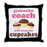 Funny Gymnastics Coach Throw Pillow