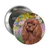 Garden / Ruby Cavalier 2.25&quot; Button