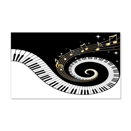 Mixed Musical Notes (black go 22x14 Wall Peel