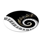 Mixed Musical Notes (black go 38.5 x 24.5 Oval Wal