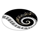Mixed Musical Notes (black go Decal