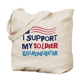 Soldier Granddaughter Support Tote Bag