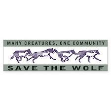 Wolf Conservation Bumper Bumper Sticker