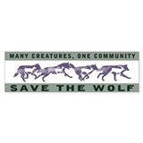 Wolf Conservation Bumper Car Sticker