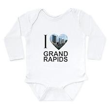 I Heart Grand Rapids Long Sleeve Infant Bodysuit