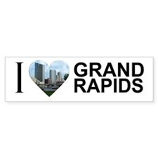 I Heart Grand Rapids Bumper Sticker
