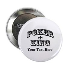 "Customizable Poker King 2.25"" Button (10 pack)"