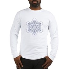 Long sleeve T-shirt with Metatron's cube