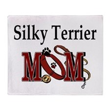 Silky Terrier Mom Throw Blanket