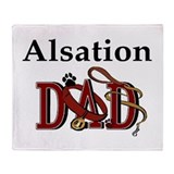 Alsation Dog Dad Throw Blanket