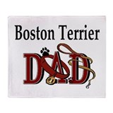 Boston Terrier Dad Throw Blanket