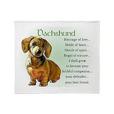 Dachshund Puppy Throw Blanket