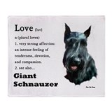 Giant Schnauzer Love Throw Blanket