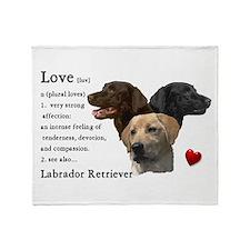 Labrador Retriever Love Throw Blanket