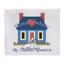 Clumber Spaniel Throw Blanket