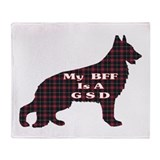 BFF German Shepherd Throw Blanket