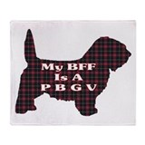 Petit Basset Griffon BFF Throw Blanket