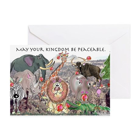 May Your Kingdom Be Peaceable Greeting Cards (Pk o